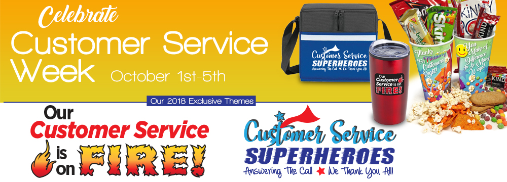 Customer Service Week Appreciation Themes 2018 | Care Promotions