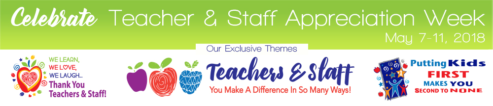 National Teachers and Staff Appreciation Week 2018 Themes | Care Promotions