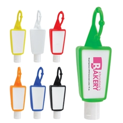 1 Oz. SPF 30 Sunscreen In Silicone Holder 1 Oz. SPF 30 Sunscreen In Silicone Holder, 1 oz., SPF-30, Sunscreen, Silicone Holder, loop, Imprinted, Personalized, Promotional, with name on it, giveaway, Attachment,