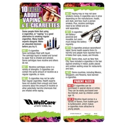 10 Facts About Vaping & E-Cigarettes Bookmark Vaping Awareness, E-Cigarettes, Dangers of Vaping, Vaping Prevention, Bookmark
