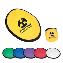 "10"" Flying Disk With Matching Pouch 10"" Flying Disk With Matching Pouch, 10"" Flyer, Disk, with, Matching, Pouch, Imprinted, Personalized, Promotional, with name on it, giveaway,"