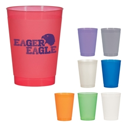 10 Oz. Frost Flex Cup 10 Oz. Frost Flex Stadium Cup, Frosted, Frost, Flex, Cup, Stadium, Party, Imprinted, Personalized, Promotional, with name on it, Gift Idea, Giveaway,