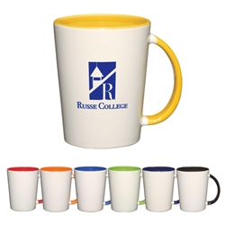 14 Oz. Capri Mug 14 Oz. Capri Mug, 14 oz., Capri, Mug, Ceramic, Coffee, Two-Tone. 2-tone, Colorful, Desk, beverage, Imprinted, Personalized, Promotional, with name on it, Gift Idea, Giveaway,