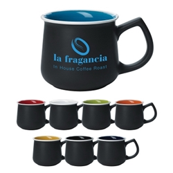 14 Oz. Stoneware Mug 14 Oz. Stoneware Mug, 14oz., Stoneware, Mug, Coffee, Cup, Desk, Beverage, 2-tone, two-tone, colorful, with, handle,Imprinted, Personalized, Promotional, with name on it, Gift Idea, Giveaway,