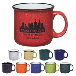 15 Oz. Campfire Mug 15 Oz. Campfire, Mug, Retro, Granite, Stoneware, Mug, Coffee, Cup, Desk, Beverage, colorful, with, handle,Imprinted, Personalized, Promotional, with name on it, Gift Idea, Giveaway,