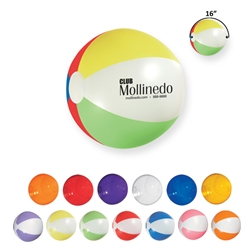"16"" Beach Ball 16"" Beach Ball, 16"", Beach, Ball, Colors, Imprinted, Personalized, Promotional, with name on it, giveaway,"