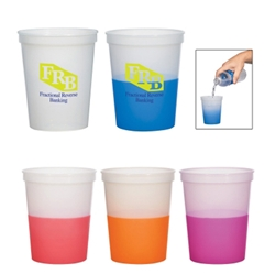 16 Oz. Color Changing Stadium Cup 16 Oz. Color Changing Stadium Cup, Color Changing, Heat Sensitive, stadium, Cup,Imprinted, Personalized, Promotional, with name on it, Gift Idea, Giveaway, reusable,