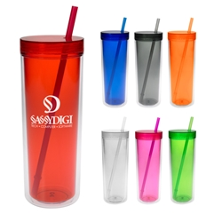 16 Oz. Double Wall Aria Tumbler 16 Oz. Double Wall Aria Tumbler, 16 oz., Double, Wall, Aria, Tumbler, Color, sports, with, straw,Imprinted, Personalized, Promotional, with name on it, Gift Idea, Giveaway,