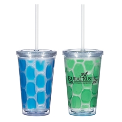 16 Oz. Double Wall Tumbler With Cooling Inner Wall 16 Oz. Double Wall Tumbler With Cooling Inner Wall, Double, Wall, Tumbler, Cooling, Inner, Wall, Keep drinks cold, Travel, Imprinted, Personalized, Promotional, with name on it, Gift Idea,