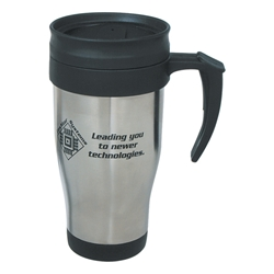 16 Oz. Stainless Steel Travel Mug With Slide Action Lid And Plastic Inner Liner 16 Oz. Stainless Steel Travel Mug With Slide Action Lid And Plastic Inner Liner, Stainless Steel, Travel, Mug, with, Slide, Action, Lid, Plastic Liner, Imprinted, Personalized, Promotional, with name on it, Gift Idea,