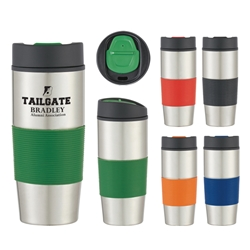 18 oz. Stainless Steel Gripper Bottle  18 Oz Stainless Steel Tumbler, Stainless Steel Mug, Travel Mug, Imprinted, Personalized, Promotional, with name on it