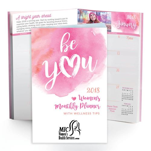 2018 Be You Womens Monthly Pocket Planner | Breast Cancer Awareness Giveaways | Care Promotions