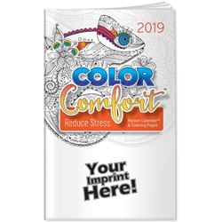 2019 Reducing Stress Color Comfort Pocket Calendar | Care Promotions