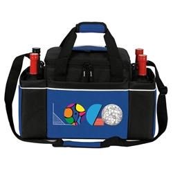 24 Cans Easy Access Cooler Plus Wine Bottle Holders Rocket, 24 Can Cooler, Cooler and Wine Holder, Continental Marketing, Care Promotions, Lunch Bag, Insulated, Barrel, Travel, Employee, Nurses, Teachers, Volunteers, Healthcare, Staff Gifts