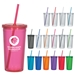 24 Oz. Double Wall Acrylic Tumbler With Straw - DRK065