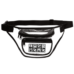 Custom 3-Zipper Clear Fanny Pack | Care Promotions