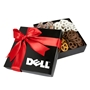 4 Delights Mini Pretzels Gift Box holiday gifts, holiday food gifts, corporate holiday gifts, gift sets, chocolate gifts, employee appreciation, employee recognition, holiday parties, chocolate covered pretzels