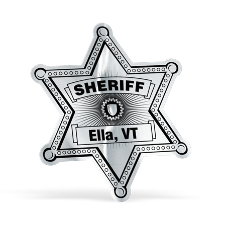 Sheriff Foil Sticker Badge | Law Enforcement Promotional Items | Care Promotions