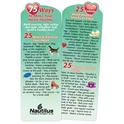 75 Ways To Make Your Heart Healthy Deluxe Die-Cut Bookmark Healthy Heart, Heart Tips, Bookmark, Womens Heart Health, Nutrition,