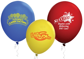 "9"" Standard Latex Balloons Latex balloons, party goods, decorations, celebrations, round shaped balloons, promotional balloons, custom balloons, imprinted balloons"