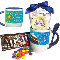 """A Cake For You For All You Do"" Mug & Spoon Gift Set  Cake in A Cup Gift, Ceramic, Spooner, Personal Cake Packet, Mug Cake Set, Holiday Treat Set, Holiday Appreciation Gift, Holiday Recognition Gift, Holiday Staff Gifts Under $10,  Ice Breakers, Appreciation, Holiday Appreciation, Gift Set, Team, Staff, Gifts, Appreciation, Care, Nurses, Volunteers, Team, Healthcare, Teachers, Staff, Housekeepers, Environmental Services, Incentives, Appreciation, Desert Gift, Holiday Gift Ideas,"