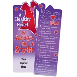 A Healthy Heart is Always In Style Die-Cut Red Dress Bookmark Healthy Heart, Wear Red, Red Dress, Go Red, Womens Heart Health, Nutrition,