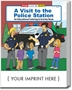 A Visit to the Police Station Coloring & Activity Book promotional coloring book, public safety promotional items, crime prevention coloring book, crime prevention promotional products, visit to the police station, crime prevention month, police department giveaways, law enforcement education promos