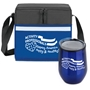 """Activity Professionals: Keeping America Happy & Healthy!"" Goblet & Cooler Care Bundle  activity professionals theme, Lunch Bag Combo, Appreciation Gift Combo, Cooler and Bottle Combo, Care Bundle, Break Pack, Housekeeping Gift Set, Theme, promotional products, scooler set, Lunch bag, Imprinted"