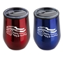 """Activity Professionals: Keeping America Happy & Healthy!"" Red and Blue Assorted 12 oz Stainless Steel/Polypropylene Wine Goblet activity professionals theme wine goblet, Activity Professionals Week theme wine tumbler, Imprinted"