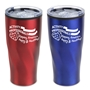 """Activity Professionals: Keeping America Happy & Healthy!"" Red and Blue Assorted 20 oz Stainless Steel/Polypropylene Tumbler activity professionals theme tumbler, Activity Professionals Week travel mug, Imprinted"