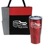 """Activity Professionals: Keeping America Happy & Healthy!"" Travel Tumbler & Tote Care Bundle   activity professionals theme,Tumbler and Tote Combo, Appreciation Gift Combo, Tumbler and Tote Combo, Travel Tumbler and Tote, Care Bundle, Break Pack, Housekeeping Gift Set, Theme, promotional products, scooler set, Lunch bag, Imprinted"