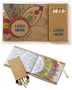 Adult Coloring Book & 6-Color Pencil Set To-Go mini adult coloring book, adult coloring book and pencil set, imprinted adult coloring book, adult coloring book with logo, adult coloring book giveaway, promotional products, employee appreciation, employee recognition, smiley face