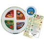 Adult Portion Meal Plate With Custom Glancer | Care Promotions