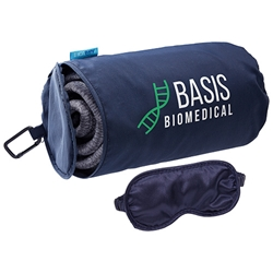 AeroLOFT™ Travel Blanket with Sleep Mask Business First Travel Blanket with Sleep Mask Promo Blanket, Promotional Blanket, Travel Blanket, Travel Blanket and Sleep Mask Set, Travel Promotional Idea, Travel Promotional Products, Blanket with Imprint, travel promotional items