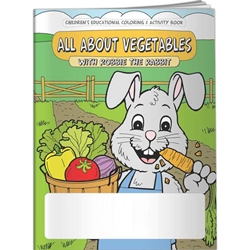 All About Vegetables with Robbie The Rabbit Coloring Book All About Vegetables with Robbie Rabbit Coloring Book, BetterLifeLine, BetterLife, Education, Educational, information, Informational, Wellness, Guide, Brochure, Paper, Low-cost, Low-Price, Cheap, Instruction, Instructional, Booklet, Small, Reference, Interactive, Learn, Learning, Read, Reading, Health, Well-Being, Living, Awareness, ColoringBook, ActivityBook, Activity, Crayon, Maze, Word, Search, Scramble, Entertain, Educate, Activities, Schools, Lessons, Kid, Child, Children, Story, Storyline, Stories,Imprinted, Personalized, Promotional, with name on it, Giveaway,