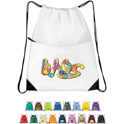 All-Purpose Drawstring Tote 2 All Purpose, Backpack, Drawstring, 2, Nylon, Mesh, Promotional, Imprinted, Gift, Reusable