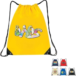 All-Purpose Drawstring Tote 3 All Purpose, Backpack, Drawstring, 3, Nylon, Promotional, Imprinted, Gift, Reusable
