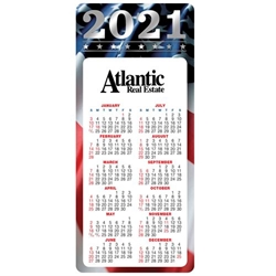 Americana 2021 E-Z 2 Stick Magnetic Calendar  Mailable Calendar, Direct Mail Calendar, Customer Calendar Stick Up, Wall Calendar, Planner, The Positive Line, Business Calendar, Office Calendar, Business Gifts, Corporate Gifts, Sales and Marketing, Sales Meetings, Giveaways, Promotional Calendars