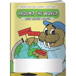 Around the World with Walter Walrus Coloring Book Around the World with Walter Walrus Coloring Book, BetterLifeLine, BetterLife, Education, Educational, information, Informational, Wellness, Guide, Brochure, Paper, Low-cost, Low-Price, Cheap, Instruction, Instructional, Booklet, Small, Reference, Interactive, Learn, Learning, Read, Reading, Health, Well-Being, Living, Awareness, ColoringBook, ActivityBook, Activity, Crayon, Maze, Word, Search, Scramble, Entertain, Educate, Activities, Schools, Lessons, Kid, Child, Children, Story, Storyline, Stories, Flying, Driving, Explore, Exploration, Preschool, Grade School, Elementary, Imprinted, Personalized, Promotional, with name on it, Giveaway,