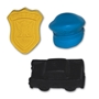 Assorted Police Pencil Top Erasers police promotional items, law enforcement promotional items, crime prevention month giveaway, jr. police giveaways, public safety promotional items, police handouts for kids