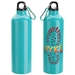 """Caring Is Everything We Do & We Depend On You!"" Atrium 25 oz Aluminum Bottle with Carabiner  - NUR163"