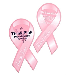 Breast Cancer Awareness Magnet Awareness, Magnet, Pink, Ribbon, Imprinted, Personalized, Promotional, with name on it, giveaway