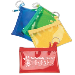BEE The Fire Safety IT Factor Rainbow Color Zip Purse Zip Purses, Rainbow, Colors, Fun, Color, Nylon, Purse, Bag, Wallet, Imprinted, Personalized, Promotional, with name on it, giveaway