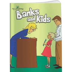 Banks and Kids My Storybooks Banks and Kids My Storybooks, BetterLifeLine, BetterLife, Education, Educational, information, Informational, Wellness, Guide, Brochure, Paper, Low-cost, Low-Price, Cheap, Instruction, Instructional, Booklet, Small, Reference, Interactive, Learn, Learning, Read, Reading, Health, Well-Being, Living, Awareness, MyStorybook, Story, Book, Comic, Kid, Child, Children, Storytelling, Telling, Storyline, School, Cartoon, Bedtime, Bed, Financial, Debit, Credit, Check, Credit union, Investment, Loan, Savings, Finance, Money, Checking, Cash, Transactions, Budget, Wallet, Purse, Creditcard, Balance, Reconciliation, Retirement, House, Home, Mortgage, Refinance, Real Estate, Bill, Debt, Fraud, Amortization,Imprinted, Personalized, Promotional, with name