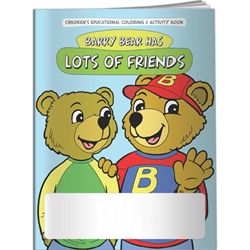 Barry Bear Has Lots of Friends Coloring Book Barry Bear Has Lots of Friends Coloring Book, BetterLifeLine, BetterLife, Education, Educational, information, Informational, Wellness, Guide, Brochure, Paper, Low-cost, Low-Price, Cheap, Instruction, Instructional, Booklet, Small, Reference, Interactive, Learn, Learning, Read, Reading, Health, Well-Being, Living, Awareness, ColoringBook, ActivityBook, Activity, Crayon, Maze, Word, Search, Scramble, Entertain, Educate, Activities, Schools, Lessons, Kid, Child, Children, Story, Storyline, Stories, Imprinted, Personalized, Promotional, with name on it, Giveaway,