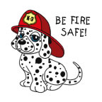 Be Fire Safe Dalmatian Temporary Tattoo fire safety promotional items, fire safety, kids fire safety, fire prevention, fire prevention week, Dalmatian, temporary tattoo, fire station giveaway