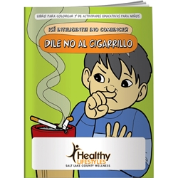 Be Smart, Dont Start! Say NO to Smoking Coloring Book (Spanish) Be Smart, Dont Start! Say NO to Smoking Coloring Book (Spanish), BetterLifeLine, BetterLife, Education, Educational, information, Informational, Wellness, Guide, Brochure, Paper, Low-cost, Low-Price, Cheap, Instruction, Instructional, Booklet, Small, Reference, Interactive, Learn, Learning, Read, Reading, Health, Well-Being, Living, Awareness, ColoringBook, ActivityBook, Activity, Crayon, Maze, Word, Search, Scramble, Entertain, Educate, Activities, Schools, Lessons, Kid, Child, Children, Story, Storyline, Stories, Drugs, Alcohol, Smoke, Tobacco, Smoking, Cigarettes, Lungs, Cancer, Drinking, Drink, Booze, Liquor, Beer, Say No, DARE, SADD, MADD, Drunk, DUI, DWI, AA, Abuse, Addiction, Addict, Dependence, Imprinted, Personalized, Promotional,