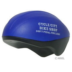 Bicycle Helmet Stress Reliever safety promotional items, bike safety month giveaways, bicycle safety awareness, safety incentives, safety reminders, community safety, police safety, traffic safety