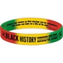 Black History: Honoring The Past, Celebrating The Present, Inspiring The Future Silicone Bracelet (Pack of 10) black history month Mints, Black History Month Butter Mints, Black History Month Candy, Black History Month theme treats, promotional items, black history month giveaways, black history educational items, African American history promotions, educational activity books,