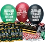 Black History Month 405-Piece Celebration & Decoration Pack  black history month theme decorations, Black History Month celebration ideas, Black History Month theme decorations, promotional items, black history month giveaways,